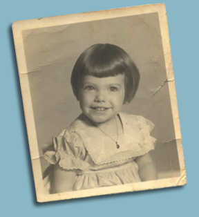 Jackie as a little girl